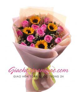 Bó hoa tươi giao hoa toàn quốc E46