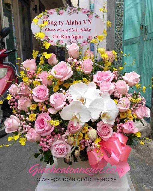 Giỏ hoa tươi giao hoa toàn quốc D01