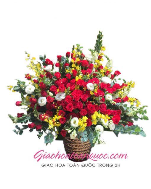 Giỏ hoa hồng đẹp giao hoa toàn quốc D07