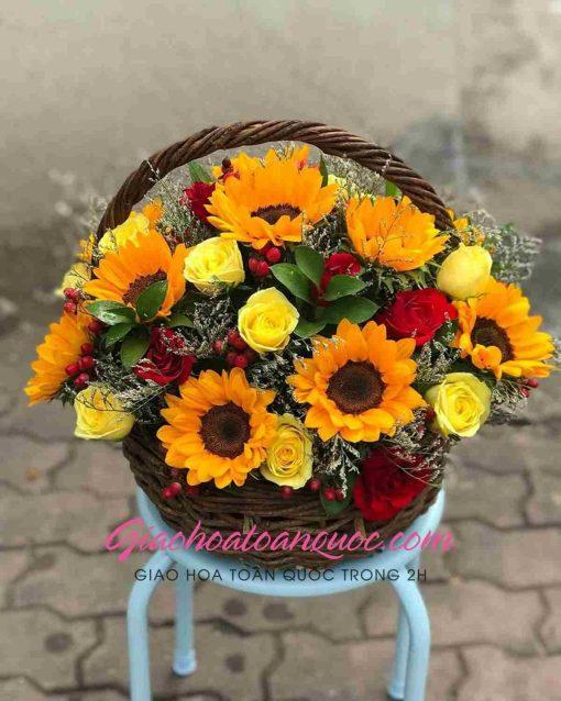 Giỏ hoa tươi giao hoa toàn quốc D08