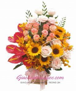 Giỏ hoa tươi giao hoa toàn quốc D11