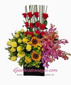 Giỏ hoa tươi giao hoa toàn quốc D15