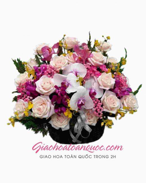 Giỏ hoa tươi giao hoa toàn quốc D16
