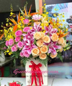 Giỏ hoa tươi giao hoa toàn quốc D17
