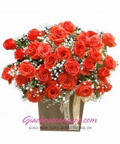 Giỏ hoa tươi giao hoa toàn quốc D18
