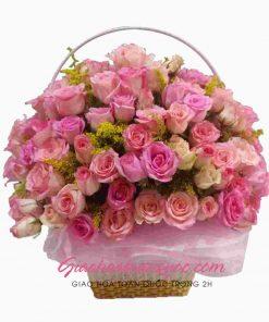 Giỏ hoa tươi giao hoa toàn quốc D21