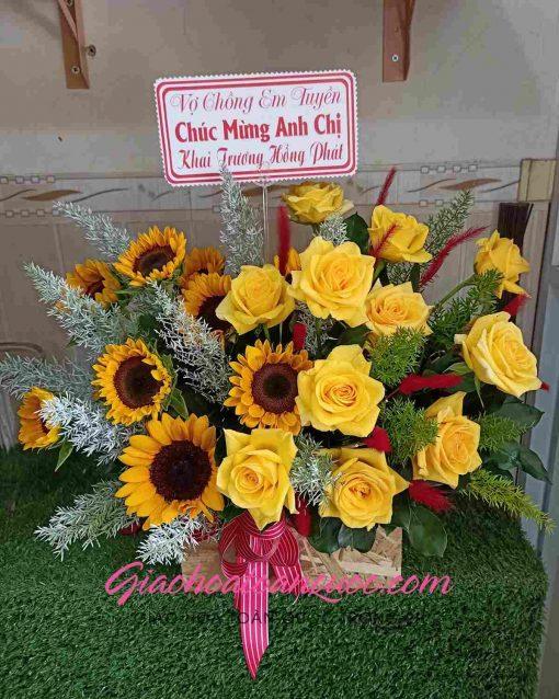 Giỏ hoa tươi giao hoa toàn quốc D22