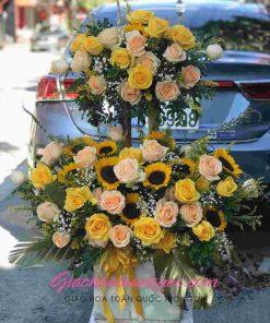 Giỏ hoa tươi giao hoa toàn quốc D24