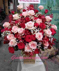 Giỏ hoa tươi giao hoa toàn quốc D25