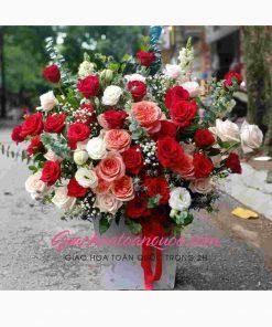 Giỏ hoa tươi giao hoa toàn quốc D32