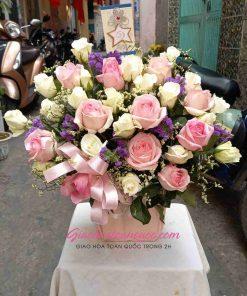 Giỏ hoa tươi giao hoa toàn quốc D34