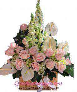 Giỏ hoa tươi giao hoa toàn quốc D35