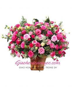 Giỏ hoa tươi giao hoa toàn quốc D36