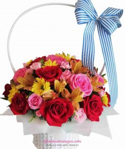 Giỏ hoa tươi giao hoa toàn quốc D44