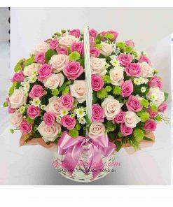Giỏ hoa tươi giao hoa toàn quốc D46